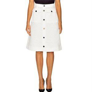 Orla Kiely Flower Spot Jacquard White Skirt NWOT